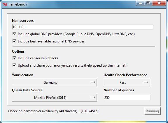 Das kostenlose Tool findet heraus, welcher DNS-Server von Ihrem Standort aus am schnellsten erreichbar ist.